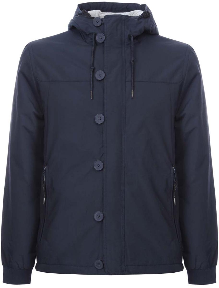 Куртка мужская oodji Lab, цвет: темно-синий. 1L412017M/25276N/7900N. Размер XL-182 (56-182)1L412017M/25276N/7900NСтильная мужская куртка oodji Lab изготовлена из высококачественного полиэстера. В качестве утеплителя используется полиэстер. Основная подкладка и подкладка капюшона изготовлена из сочетания полиэстера с хлопком.Модель с несъемным капюшоном застегивается на застежку-молнию, которая дополнительно имеет верхнюю защитную планку на пуговицах. Капюшон и пояс дополнительно регулируются в размере с помощью внутреннего шнурка. Спереди расположены два втачных кармана на застежках-молниях, с внутренней стороны - прорезной карман на молнии.Манжеты рукавов дополнены трикотажными напульсниками.