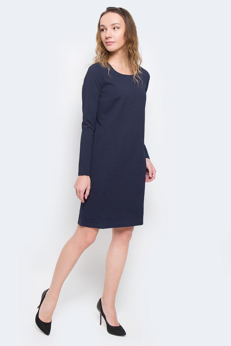 Платье Finn Flare, цвет: темно-синий. W15-11026. Размер XS (42)W15-11026Элегантное платье Finn Flare выполнено из эластичного полиэстера. Такое платье обеспечит вам комфорт и удобство при носке.Модель с длинными рукавами и круглым вырезом горловины выгодно подчеркнет все достоинства вашей фигуры. Платье оформлено оригинальным рельефным узором. Изысканное однотонное платье-миди создаст обворожительный и неповторимый образ.Это модное и удобное платье станет превосходным дополнением к вашему гардеробу, оно подарит вам удобство и поможет вам подчеркнуть свой вкус и неповторимый стиль.
