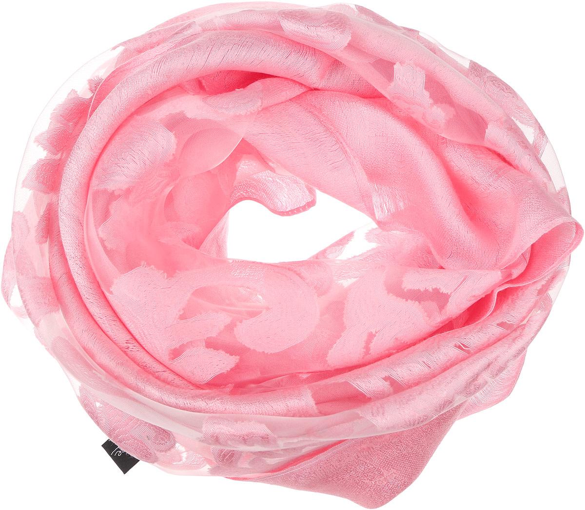 Палантин женский Sophie Ramage, цвет: розовый. YY-21658-27. Размер 70 см х 180 смYY-21658-27Элегантный палантин Sophie Ramage станет достойным завершением вашего образа. Палантин изготовлен из шелка с добавлением вискозы. Оформлена модель вставками из полупрозрачного материала и стильным узором. Палантин красиво драпируется, он превосходно дополнит любой наряд и подчеркнет ваш изысканный вкус. Легкий и изящный палантин привнесет в ваш образ утонченность и шарм.