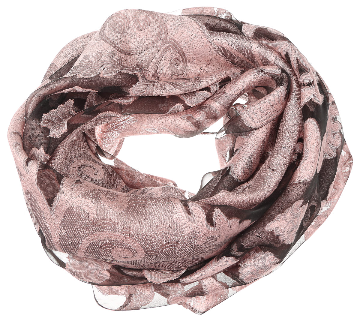 Палантин женский Sophie Ramage, цвет: бежево-розовый. YY-21658-42. Размер 70 см х 180 смYY-21658-42Элегантный палантин Sophie Ramage станет достойным завершением вашего образа. Палантин изготовлен из шелка с добавлением вискозы. Оформлена модель вставками из полупрозрачного материала и стильным узором. Палантин красиво драпируется, он превосходно дополнит любой наряд и подчеркнет ваш изысканный вкус. Легкий и изящный палантин привнесет в ваш образ утонченность и шарм.