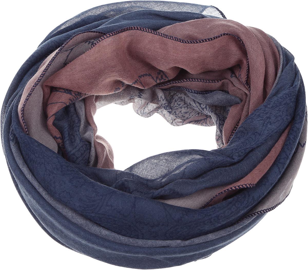 Палантин Sophie Ramage, цвет: синий, серый. YY-11675-3. Размер 90 см х 180 смYY-11675-3Элегантный палантин Sophie Ramage изготовлен из высококачественного модала с добавлением шелка. Оформлена модель стильным цветочным принтом. Палантин красиво драпируется, он превосходно дополнит любой наряд и подчеркнет ваш изысканный вкус.