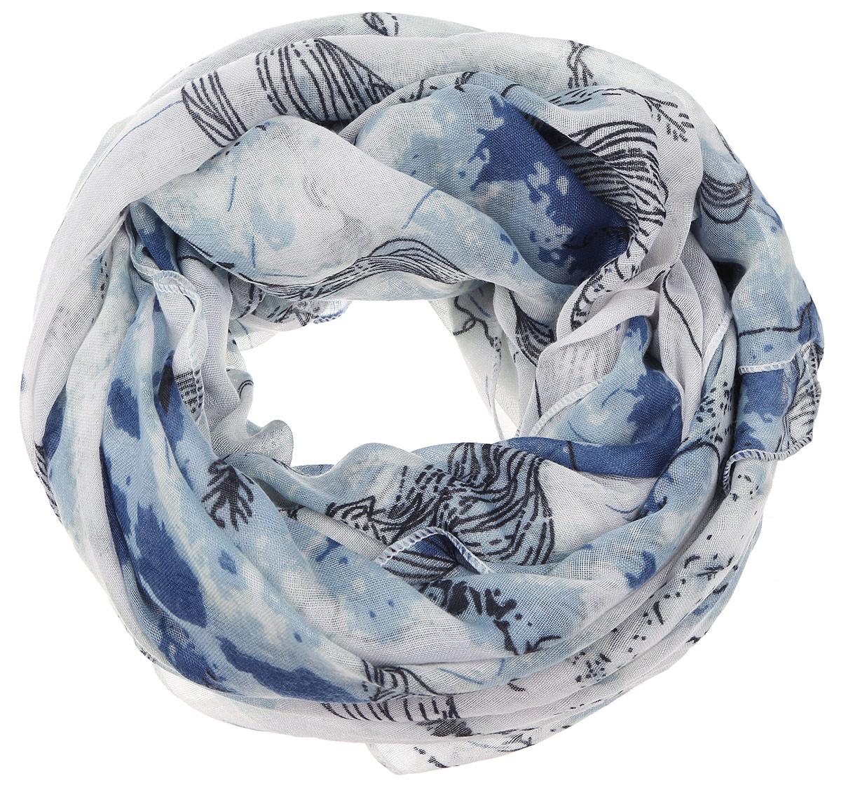 Палантин Sophie Ramage, цвет: синий, голубой. YY-11656-3. Размер 90 см х 180 смYY-11656-3Элегантный палантин Sophie Ramage изготовлен из высококачественного модала с добавлением шерсти. Оформлена модель стильным цветочным принтом. Палантин красиво драпируется, он превосходно дополнит любой наряд и подчеркнет ваш изысканный вкус.