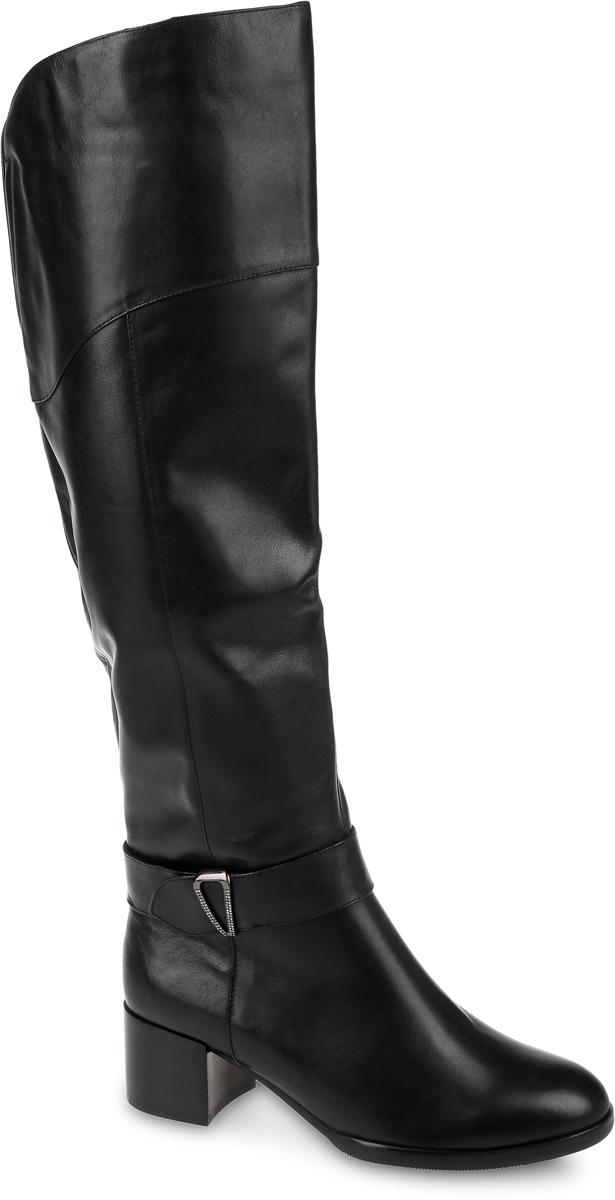 Сапоги женские Graciana, цвет: черный. T393L-C21018-3. Размер 37T393L-C21018-3Сапоги выполнены из натуральной кожи. Подкладка и стелька, изготовленные из мягкой байки, защитят ноги от холода и обеспечат комфорт. Сапоги застегиваются на застежку-молнию, расположенную на одной из боковых сторон. Подошва выполнена из термопластичного материала. Модель оснащена устойчивым каблуком.