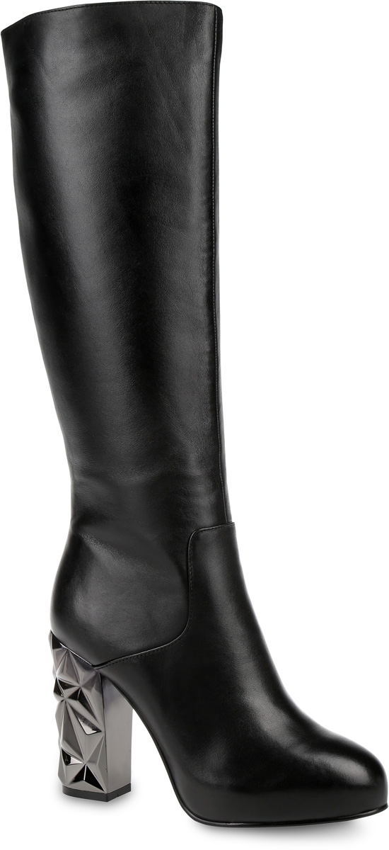 Сапоги женские Paolo Conte, цвет: черный. 91-109-30-5. Размер 3791-109-30-5Стильные женские сапоги от Paolo Conte выполнены из натуральной кожи. Подкладка и стелька выполнены из байки. Застегивается модель на боковую застежку-молнию. Эластичные вставки на голенище обеспечивают идеальную посадку модели на ноге. Высокий каблук, стилизованный под металл, компенсирован небольшой скрытой платформой. Подошва и каблук дополнены рифлением.