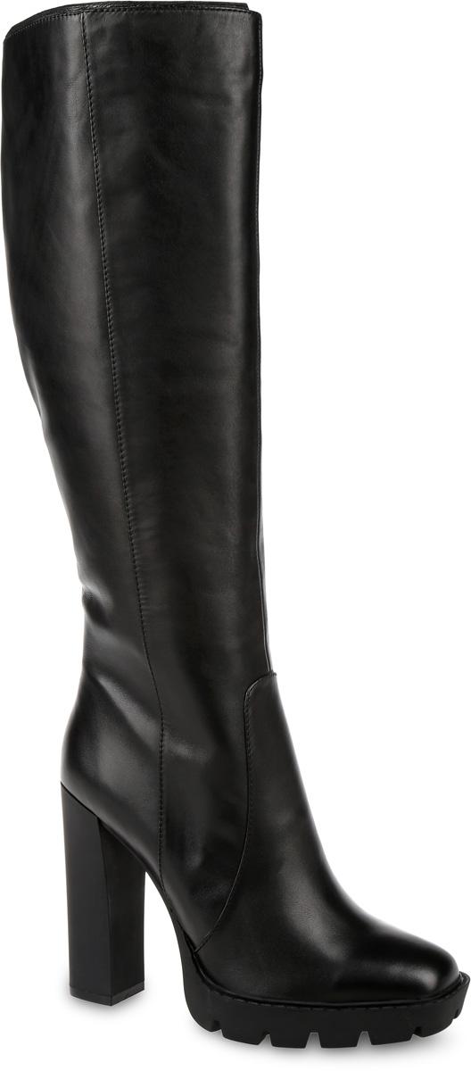 Сапоги женские Paolo Conte, цвет: черный. 91-131-01-5. Размер 3791-131-01-5Стильные женские сапоги от Paolo Conte выполнены из натуральной кожи. Подкладка и стелька выполнены из байки. Застегивается модель на боковую застежку-молнию. Эластичные вставки на голенище обеспечивают идеальную посадку модели на ноге. Ультравысокий каблук компенсирован небольшой платформой. Подошва и каблук дополнены рифлением.