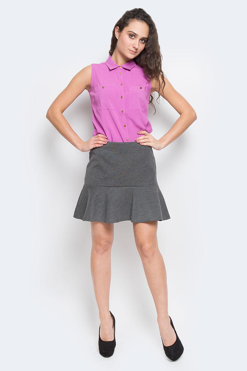 Юбка Sela, цвет: серый. SKk-118/758-5322D. Размер M (46)SKk-118/758-5322DОригинальная юбка Sela выполнена из плотного трикотажа с добавлением эластана, она невероятно мягкая и приятная на ощупь. Очаровательная юбка застегивается на застежку-молнию, расположенную в заднем шве. Юбка имеет ассиметричный подол с контрастной изнанкой, она выгодно подчеркнет ваш силуэт и поможет создать яркий образ. Стильная юбка выгодно освежит и разнообразит любой гардероб. Создайте женственный образ и подчеркните свою индивидуальность!