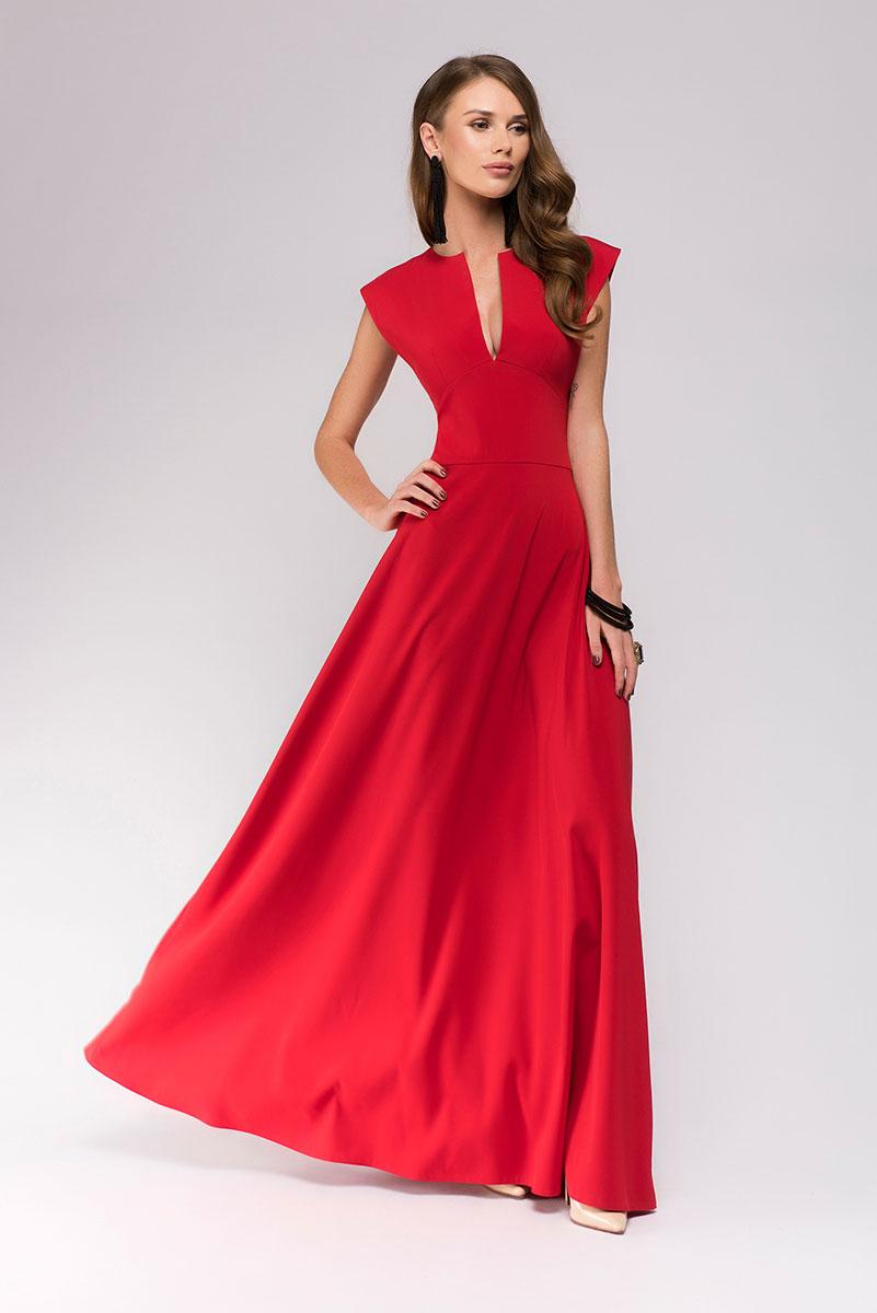 Платье 1001 Dress, цвет: красный. DM00697. Размер L (46)DM00697Потрясающее вечернее платье 1001 Dress из новой коллекции. Идеальный вариант для торжественного вечера, когда нужно выглядеть превосходно. Приталенный силуэт, расклешенная юбка, пикантное глубокое декольте. Добавьте аксессуары и королевский образ готов!