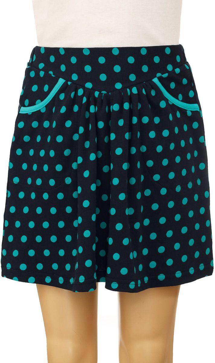 Юбка для девочки M&D, цвет: темно-синий, бирюзовый. WJA26014M-29. Размер 122WJA26014M-29Юбка для девочки M&D изготовлена из натурального хлопка, дополнена в поясеширокой эластичной резинкой, благодаря этому она не сдавливает животик ребенка. По линии талии заложены складочки, придающие изделию пышность. Спереди модель оснащена двумя втачными карманами.