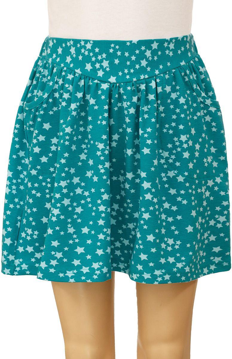 Юбка для девочки M&D, цвет: зеленый, голубой. WJA26019M-13. Размер 104WJA26019M-13Юбка для девочки выполнена из эластичного хлопка. Модель на талии имеет эластичный пояс и дополнена двумя втачными карманами.