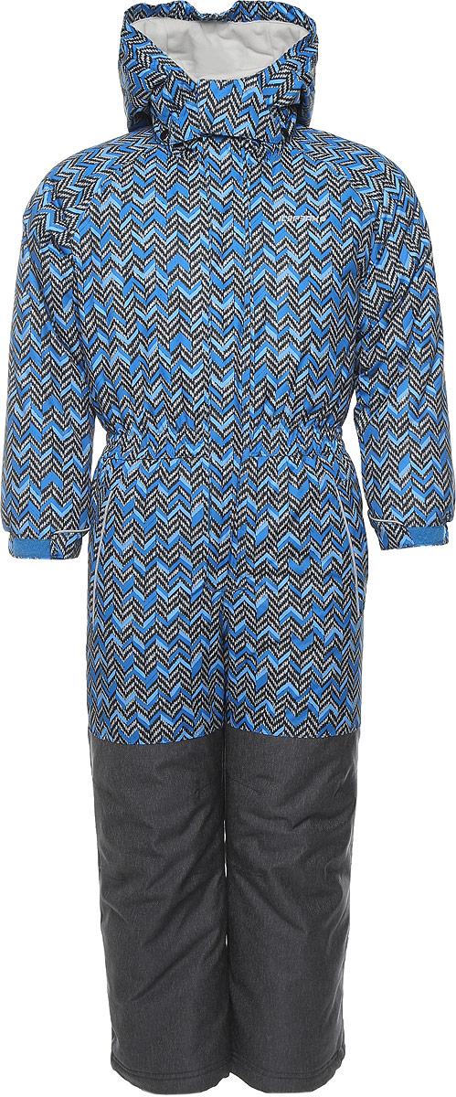Комбинезон для мальчика Icepeak Julius Kd, цвет: синий, серый. 652151503IV. Размер 104652151503IV_934Комбинезон для мальчика Icepeak Julius Kd выполнен из 100% полиэстера. Материал изготовлен при помощи технологии Icemax, которая обеспечит вашему ребенку надежную защиту от ветра и влаги. Все швы куртки и брюк проклеены, для обеспечения дополнительной защиты от непогоды. В качестве подкладки также используется полиэстер. Утеплителем служит материал FinnWad, который обладает высокими теплоизоляционными свойствами. Модель с воротником-стойкой и съемным капюшоном застегивается на застежку-молнию с защитой для подбородка и имеет ветрозащитную планку на липучках и кнопках. Капюшон пристегивается к изделию за счет кнопок. Низ рукавов дополнен хлястиками на липучках, а низ брючин - внутренними манжетами на резинке. Спереди расположены два прорезных кармана на застежках-молниях. Комбинезон оснащен специальными деталями Childrens safety для дополнительной безопасности ребенка во время занятий спортом и активного отдыха на улице.