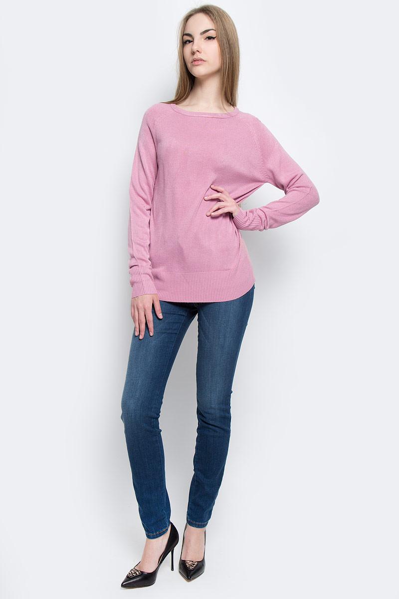 Джемпер женский Classic, цвет: бледно-розовый. А70015. Размер М (44)А70015Модный женский джемпер Classic, изготовленный из качественной акриловой пряжи, мягкий и приятный на ощупь, не сковывает движений.Модель с круглым вырезом горловины и длинными рукавами-реглан выполнена в лаконичном дизайне. Манжеты рукавов и низ джемпера изготовлены из трикотажной резинки.