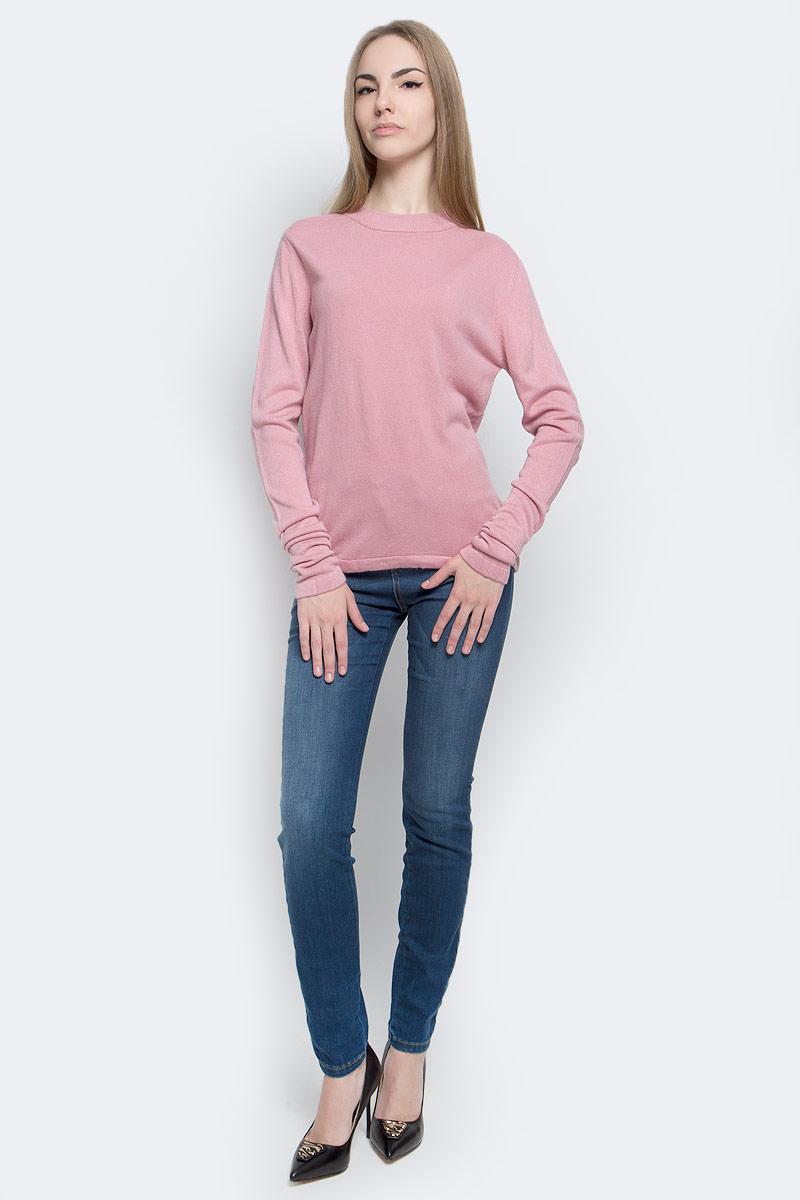 Джемпер женский Classic, цвет: розовый. А70022. Размер S (42)А70022Модный женский джемпер Classic, изготовленный из качественной акриловой пряжи, мягкий и приятный на ощупь, не сковывает движений.Модель с круглым вырезом горловины и длинными рукавами выполнен в лаконичном дизайне. Горловина джемпера изготовлена из трикотажной резинки.