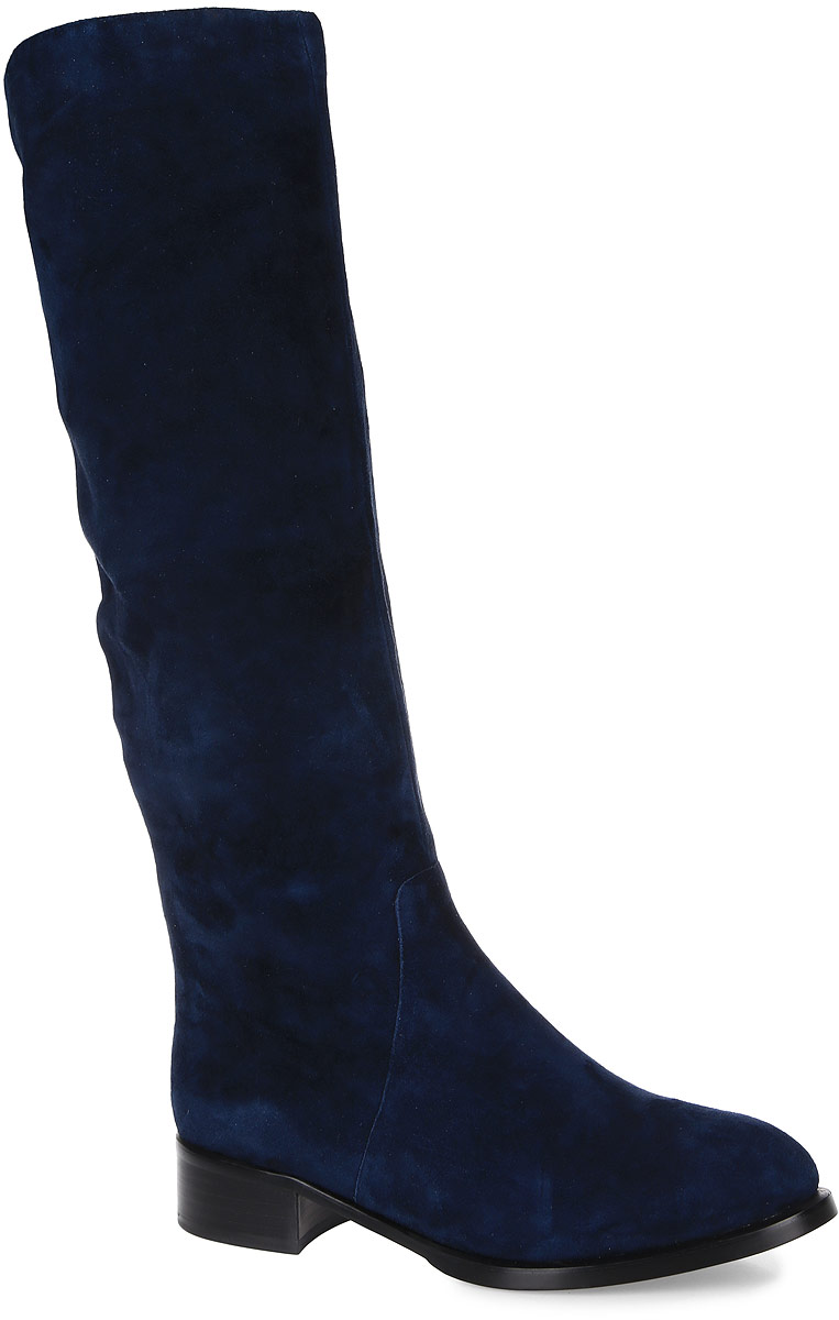 Сапоги женские Graciana, цвет: темно-синий. T207-T50-7BM. Размер 38T207-T50-7BMЖенские сапоги от Graciana выполнены из натуральной замши. Подкладка изготовлена из натурального меха и байки, стелька - из натурального меха. Подошва из полимерного термопластичного материала дополнена небольшим каблуком.