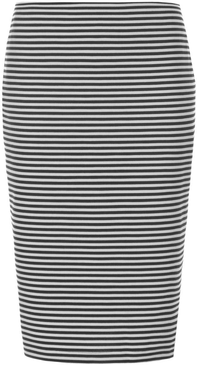 Юбка oodji Collection, цвет: черный, белый. 24100022-1/35477/2910S. Размер M (46)24100022-1/35477/2910SЮбка oodji Collection выполнена из комбинированного материала. Модель-карандаш застегивается сзади на потайную застежку-молнию. Оформлена юбка стильным полосатым принтом.