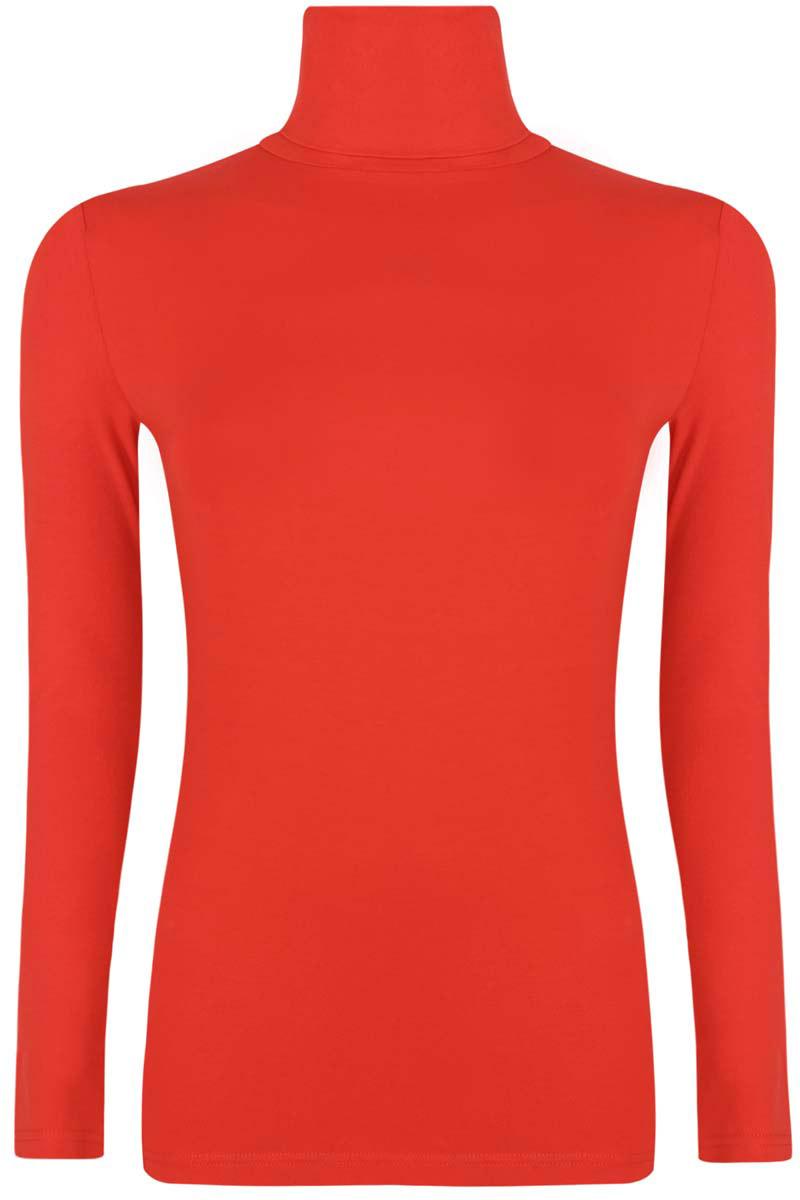 Водолазка женская oodji Ultra, цвет: красный. 15E02001B/46147/4500N. Размер M (46)15E02001B/46147/4500NБазовая женская водолазка oodji Ultra выполнена из эластичной хлопковой ткани. У модели воротник-гольф и стандартные длинные рукава.