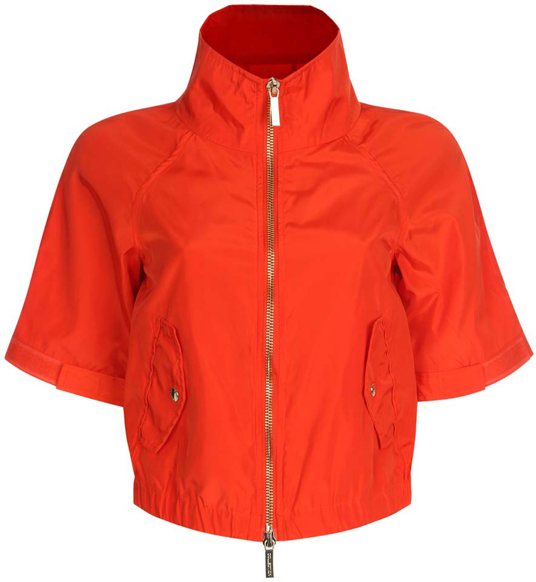Куртка женская oodji Ultra, цвет: красный. 10307004/45462/4500N. Размер 40-170 (46-170)10307004/45462/4500NСтильная женская куртка oodji Ultra выполнена из качественного полиэстера. Куртка укороченной модели с рукавами-реглан длиной 3/4 и воротником-стойкой. Застегивается модель спереди на застежку-молнию. Низ куртки на широкой эластичной резинке. По бокам и на манжетах изделие дополнено хлястиками, которые регулируют посадку и объем с помощью липучек. Спереди куртка оформлена двумя втачными карманами с клапанами на кнопках.