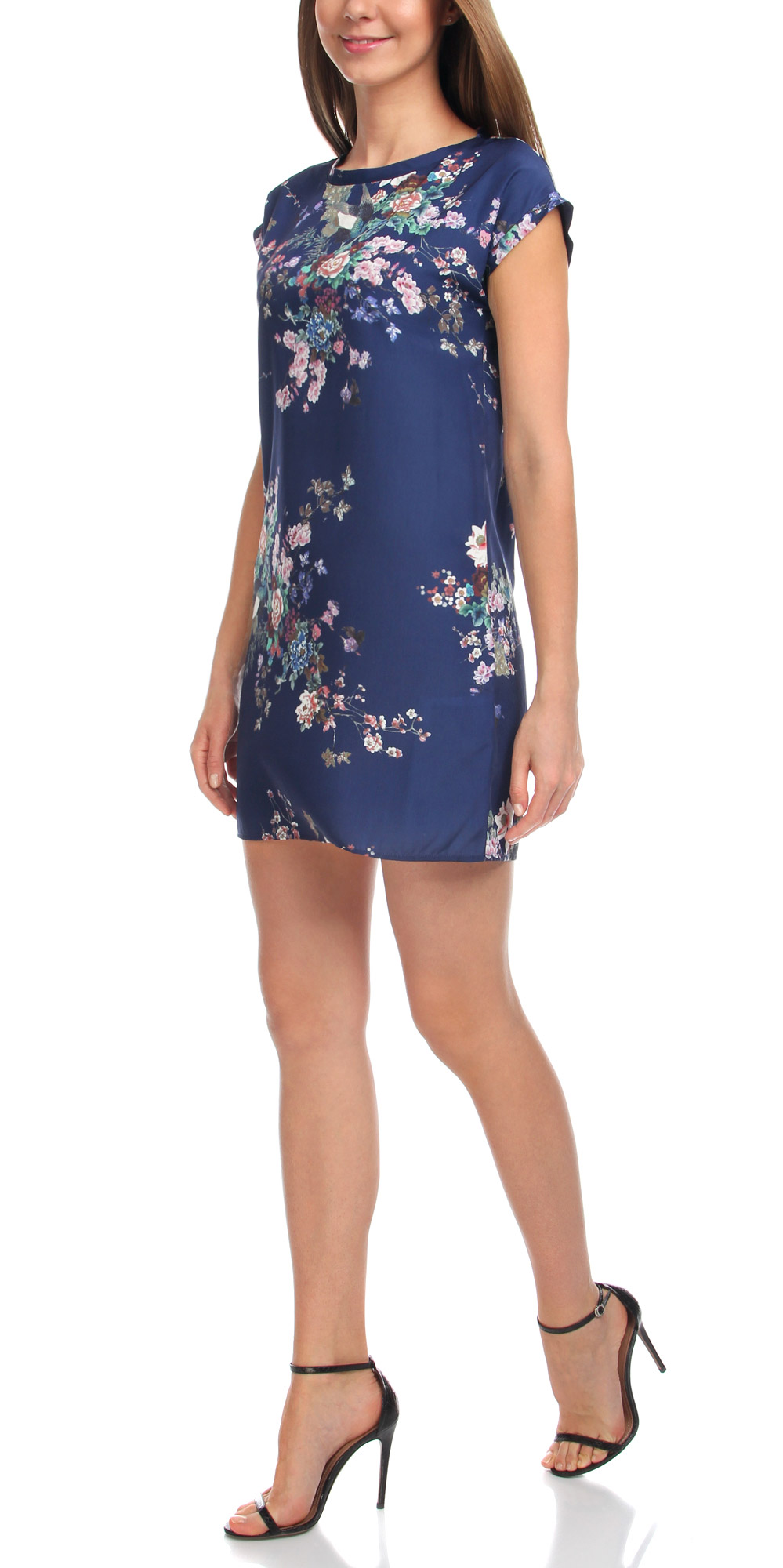 Платье oodji Collection, цвет: темно-синий, мультиколор. 21911019/35173/7919F. Размер 42-170 (48-170)21911019/35173/7919FМодное платье oodji Collection станет отличным дополнением к вашему гардеробу. Модель выполнена из качественного полиэстера. Платье-мини с круглым вырезом горловины и короткими цельнокроеными рукавами не имеет застежки. Оформлена модель принтом в восточном стиле.