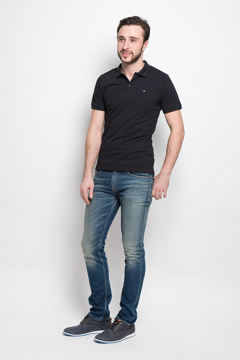 Джинсы мужские Calvin Klein Jeans, цвет: темно-синий. J30J301312_9124. Размер 29 (42/44) shending ld8030 a4 led blue pink red acrylic stainless steel round shower head silver