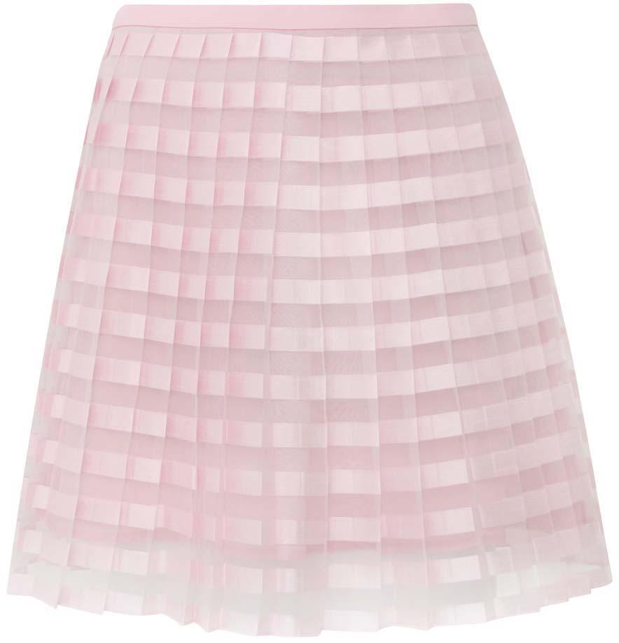 Юбка oodji Ultra, цвет: светло-розовый. 11606044/42812/4000N. Размер 40-170 (46-170)11606044/42812/4000NЛегкая юбка в складочку выполнена из высококачественного материала. Верхний слой юбки изготовлен из полупрозрачной ткани.