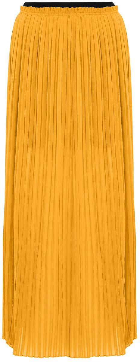 Юбка oodji Ultra, цвет: желтый. 11606043/15036/5200N. Размер 34-170 (40-170)11606043/15036/5200NПлиссированная юбка oodji Ultra полностью выполнена из хлопка. Модель- макси с подкладкой мини длины и разрезами по бокам от пояса. Пояс изделия оформлен эластичной резинкой.