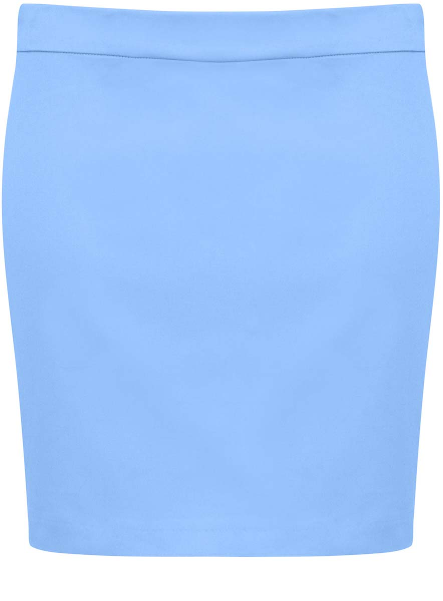 Юбка oodji Ultra, цвет: голубой. 11601179-2/14522/7000N. Размер 36-170 (42-170)11601179-2/14522/7000NЮбка oodji Ultra выполнена из хлопка с добавлением полиуретана. Модель-мини прямого фасона застегивается на застежку-молнию.