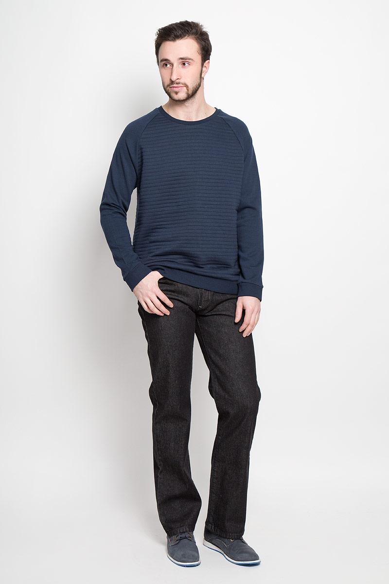 Джинсы мужские Montana, цвет: черный. 10061. Размер 31-32 (46/48-32)10061_BlackМужские джинсы Montana выполнены из натурального хлопка. Модель прямого кроя по поясу застегивается на пуговицу и имеет ширинку на застежке-молнии. Пояс дополнен шлевками для ремня. Спереди расположено два втачных кармана и маленький накладной, а сзади - два накладных кармана. Джинсы оформлены фирменной нашивкой.