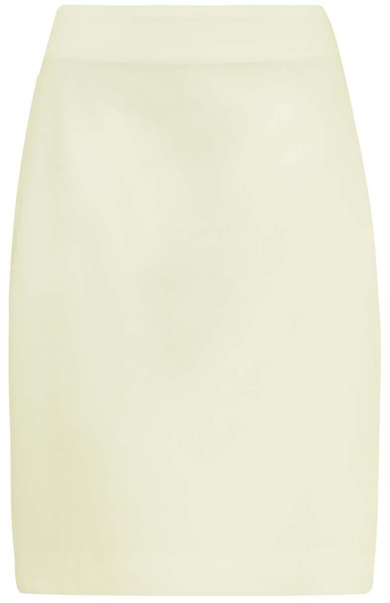 Юбка oodji Collection, цвет: светло-желтый. 21608006-3/14473/5000N. Размер 42-170 (48-170)21608006-3/14473/5000NЮбка oodji Collection выполнена из хлопка с добавлением полиуретана. Модель-карандаш с разрезом сзади застегивается на молнию на спинке.
