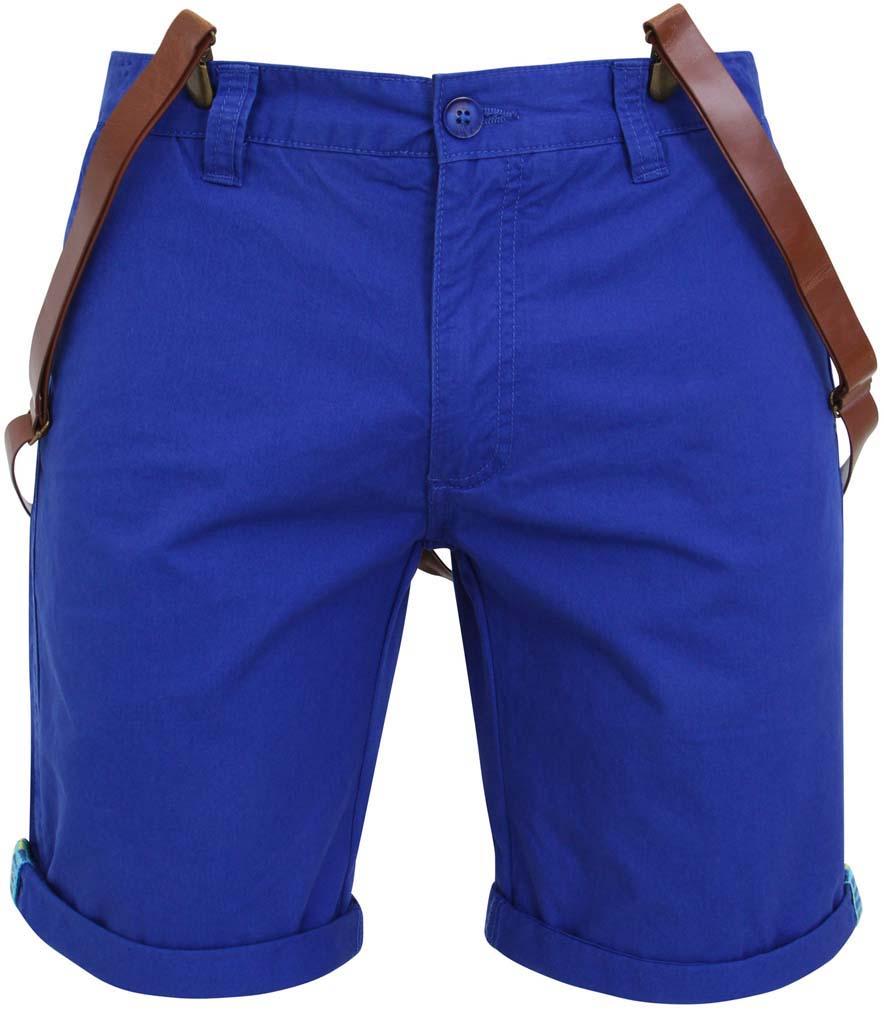 Шорты мужские oodji, цвет: синий. 2L710010M/39321N/7500N. Размер 36 (44-182)2L710010M/39321N/7500NМужские шорты oodji выполнены из натурального хлопка.Шорты застегиваются на ширинку на застежке-молнии и пуговицу на поясе, имеются шлевки для ремня. Модель дополнена двумя втачными карманами и одним накладным кармашком спереди, а также двумя втачными карманами с клапанами на пуговицах сзади. Шорты дополнены съемными подтяжками на клипсах. Подтяжки регулируются по длине.