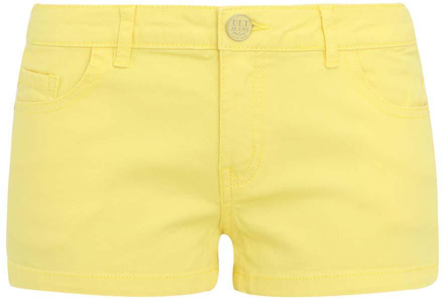 Шорты женские oodji Ultra, цвет: желтый. 12807030-2/33626/5200N. Размер 25 (40)12807030-2/33626/5200NШорты oodji Ultra выполнены из хлопка и эластана. Модель на застежке-молнии и пуговице оформлена спереди двумя втачными карманами. Сзади расположены два накладных кармана. На поясе имеются шлевки для ремня.
