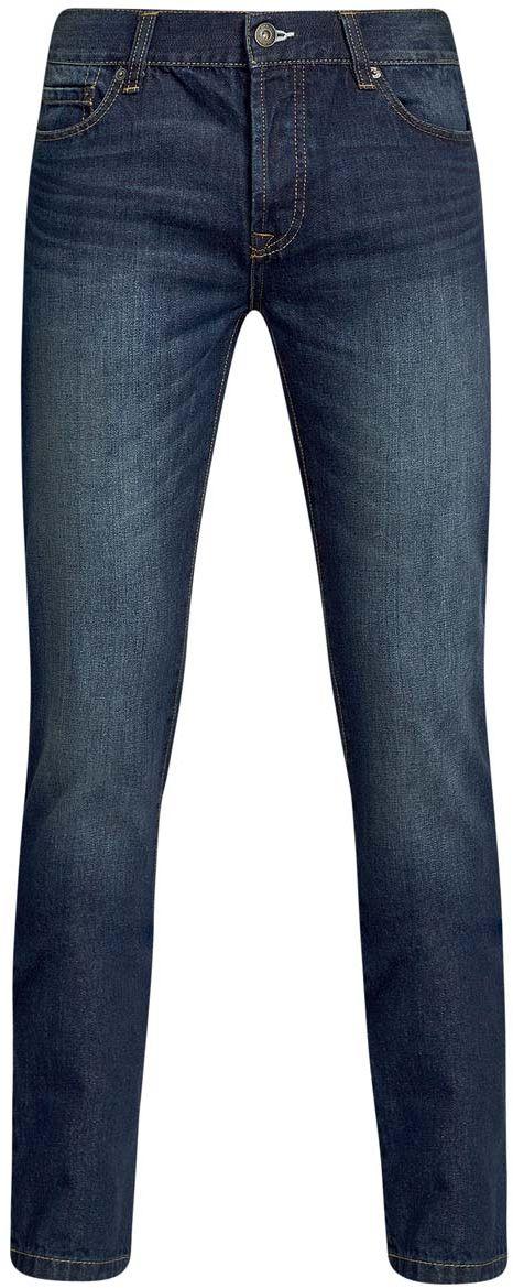 Джинсы мужские oodji Basic, цвет: синий. 6B120044M/35771/7500W. Размер 28-34 (44-34)6B120044M/35771/7500WМужские джинсы oodji Basic изготовлены из натурального хлопка. Джинсы-слим средней посадки застегиваются на пуговицы. На поясе имеются шлевки для ремня. Спереди модель дополнена двумя втачными карманами и одним небольшим накладным кармашком, сзади - двумя накладными карманами. Модель оформлена эффектом легкой потертости.
