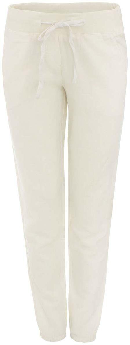 Брюки женские oodji Ultra, цвет: молочный. 11711006-1/42166/1200N. Размер 36-164 (42-164)11711006-1/42166/1200NСтильные женские брюки oodji Ultra выполнены из рами и хлопка. Брюки стандартной посадки имеют эластичный пояс, дополненный шнурком. Спереди модель дополнена двумя втачными карманами, сзади - двумя прорезными карманами на пуговицах. Них брючин присборен на резинки.