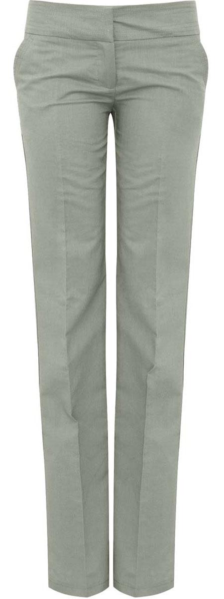 Брюки женские oodji Ultra, цвет: серо-зеленый. 11706132-1/42721/6000N. Размер 40-170 (46-170)11706132-1/42721/6000NСтильные женские брюки oodji Ultra изготовлены из качественного рами с добавлением хлопка. Модель прямого кроя со стандартной посадкой выполнена в лаконичном стиле. Застегиваются брюки на два потайных крючка в поясе и застежку-молнию. Спереди изделие оформлено двумя втачными карманами, а сзади двумя карманами-обманками.