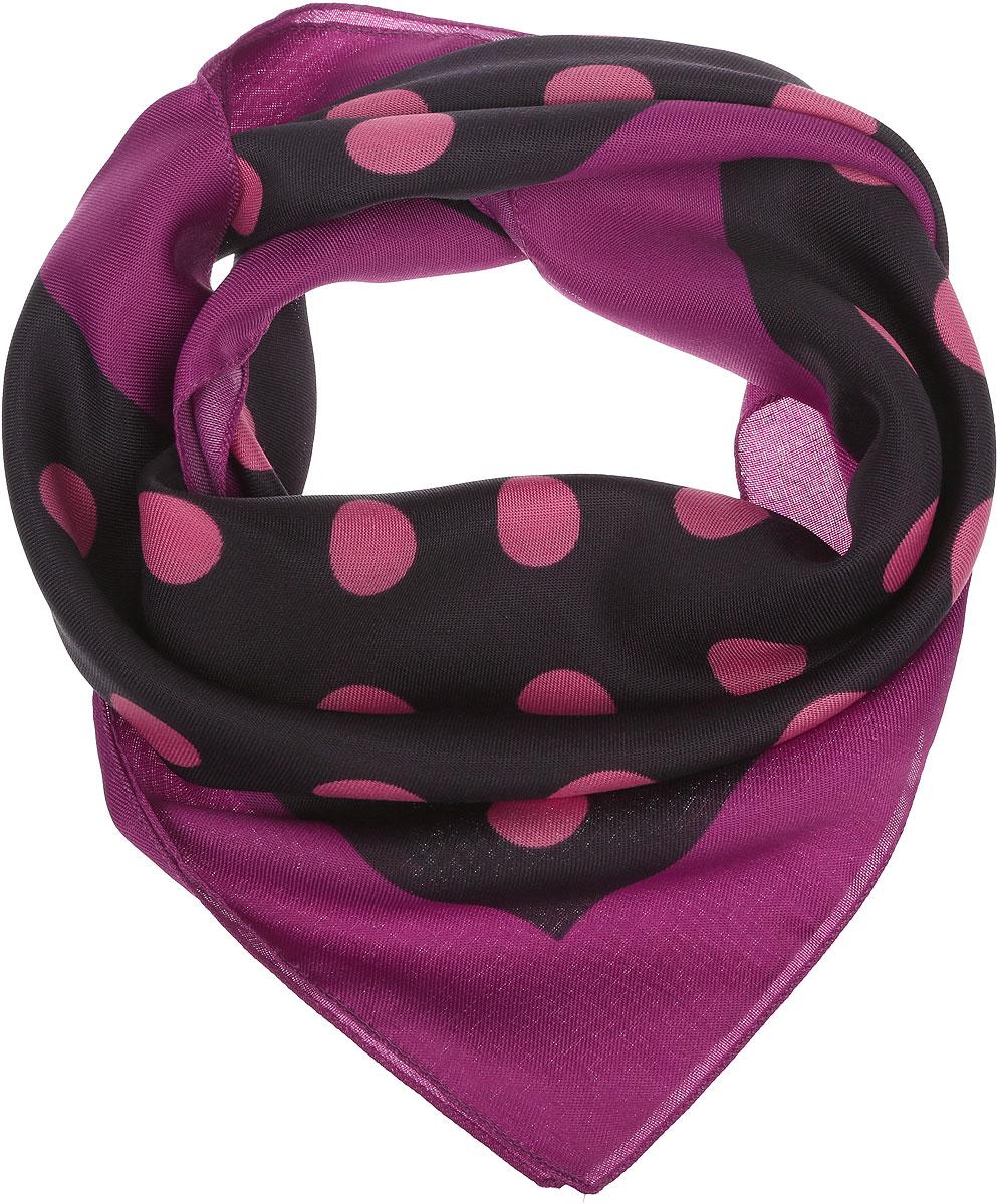 Платок женский Venera, цвет: темно-фиолетовый, розовый. 2900272-3. Размер 68 см х 68 см2900272-3Женский платок Venera выполнен из полиэстера. Изделие оформлено принтом в горох. Классическая квадратная форма позволяет носить платок на шее, украшать им прическу или декорировать сумочку.
