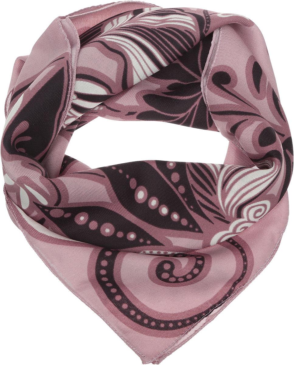 Платок женский Venera, цвет: розовый, темно-коричневый, белый. 2900372-1. Размер 68 см х 68 см2900372-1Женский платок Venera выполнен из полиэстера. Изделие оформлено цветочным принтом. Классическая квадратная форма позволяет носить платок на шее, украшать им прическу или декорировать сумочку.