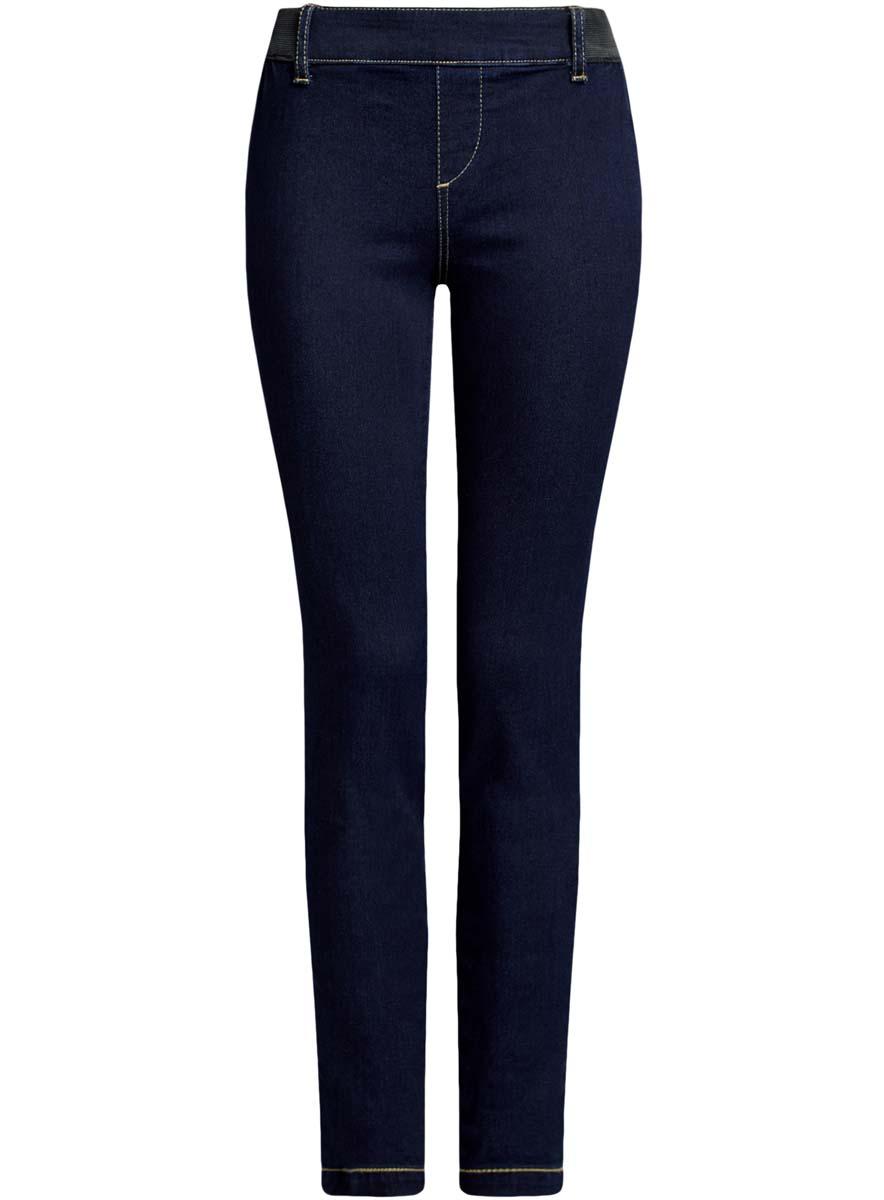 Леггинсы женские oodji Ultra, цвет: темно-синий джинс. 12104045-2B/45877/7900W. Размер 25-30 (40-30)12104045-2B/45877/7900WДжинсовые леггинсы oodji Ultra выполнены из высококачественного комбинированного материла. На поясе имеются шлевки для ремня и вставки из эластичной резинки. Сзади леггинсы дополнены двумя накладными карманами.
