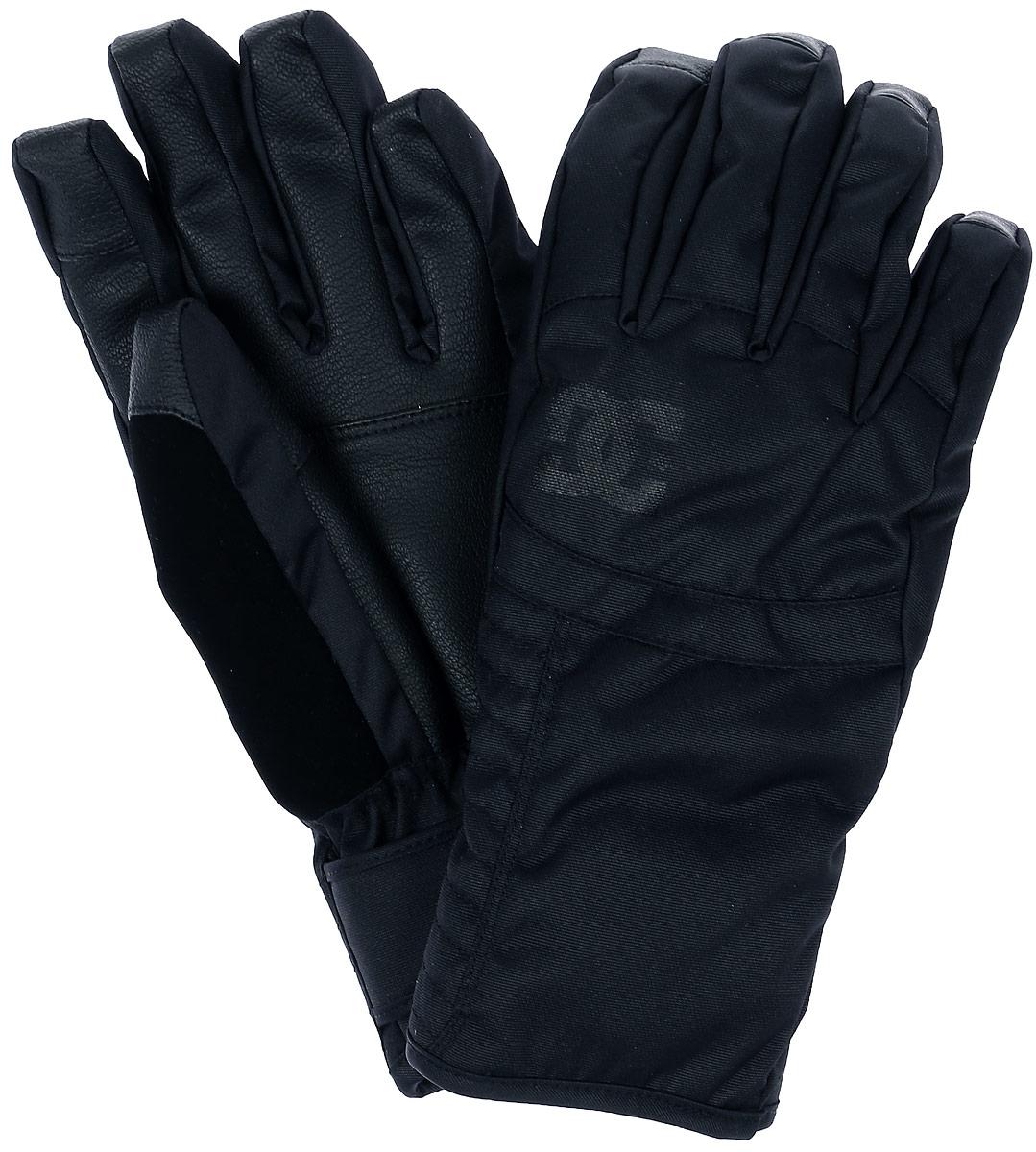 Перчатки женcкие DC Shoes Seger Wmn Glove, цвет: черный. EDJHN03007-KVJ0. Размер M (7/7,5)EDJHN03007-KVJ0Женские перчатки DC Shoes Seger Wmn Glove выполнены из высококачественного полиэстера и полиуретана, которые не пропускают воду. Модель оформлена декоративной прострочкой и принтом с изображением логотипа бренда. Варежки дополнены эластичными резинками и ремнем с липучкой, которые надежно зафиксируют модель на запястье, не сдавливая его. Внутренняя поверхность выполнена из мягкого утепленного полиэстера. Также перчатки оснащены застежкой-фастексом.