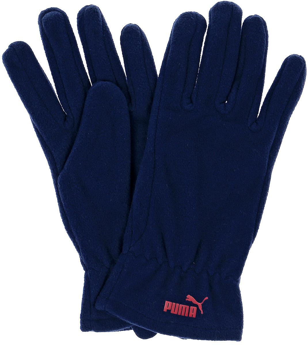 Перчатки Puma Snow Fleece Gloves, цвет: синий. 04127303. Размер M/L (24)041273_03Мягкие и удобные перчатки из флиса снабжены застежками на липучке для подгонки по руке, а также декорированы спереди тисненым прорезиненным логотипом PUMA.
