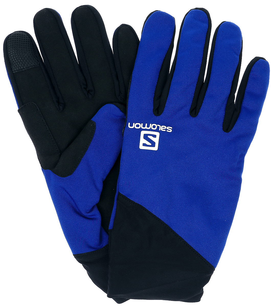 Перчатки мужские Salomon Discovery Glove M, цвет: синий, черный. L39011500. Размер L (9)