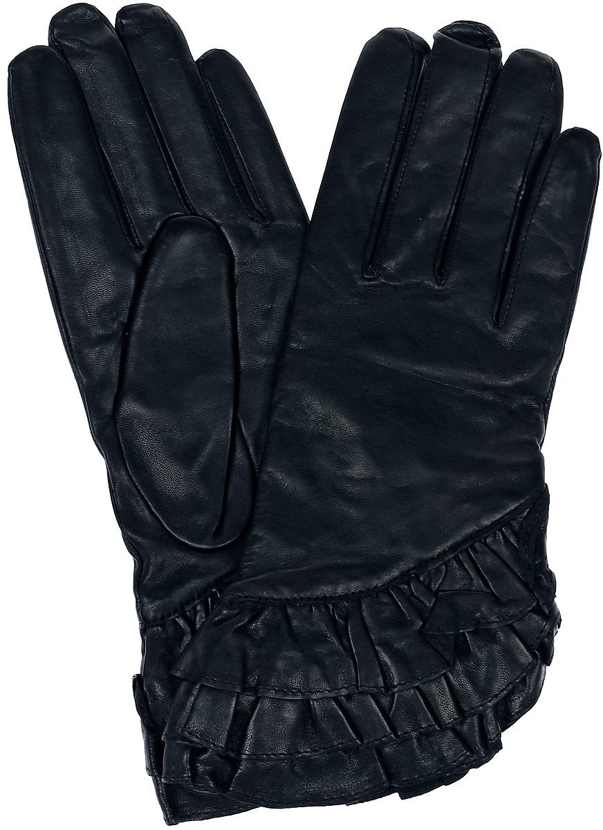 Перчатки женские Dali Exclusive, цвет: черный. 11_FLAME. Размер 6,511_FLAME/BLЖенские перчатки Dali Exclusive не только защитят ваши руки, но и станут великолепным украшением. Перчатки выполнены из натуральной кожи, а их подкладка - из высококачественной шерсти.