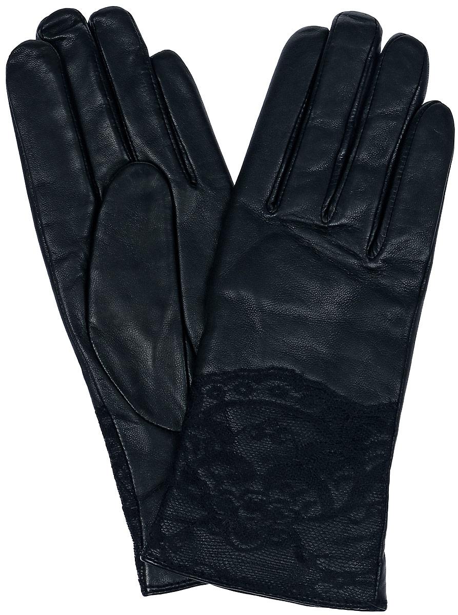 Перчатки женские Dali Exclusive, цвет: черный. 11_LACE. Размер 6,511_LACE/BLЖенские перчатки Dali Exclusive не только защитят ваши руки, но и станут великолепным украшением. Перчатки выполнены из натуральной кожи, а их подкладка - из высококачественной шерсти. Модель оформлена кружевом.