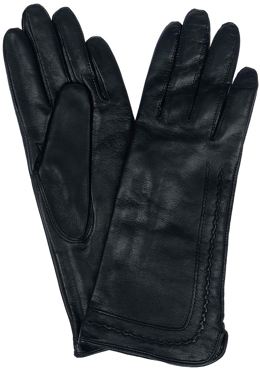 Перчатки женские Eleganzza, цвет: черный. HP09301-sh. Размер 7HP09301-shСтильные перчатки Eleganzza выполнены из натуральной гладкой кожи и оформлены декоративной прострочкой. Внутренняя поверхность выполнена из шерсти и кашемира, которые обеспечат тепло и комфорт.