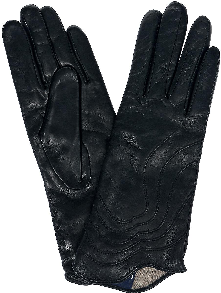 Перчатки женские Dali Exclusive, цвет: черный. 11_PENTA. Размер 6,511_PENTA/BLЖенские перчатки Dali Exclusive не только защитят ваши руки, но и станут великолепным украшением. Перчатки выполнены из натуральной кожи, а подкладка - из высококачественной шерсти. Модель оформлена декоративными прострочками.