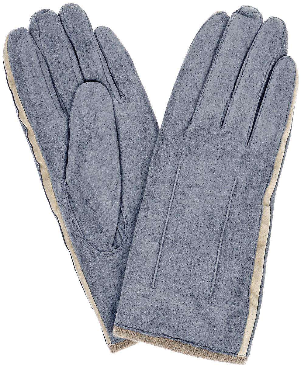 Перчатки женские Dali Exclusive, цвет: серый, бежевый. SP13_FIA. Размер 8SP13_FIA/GR.BEIGEСтильные перчатки Dali Exclusive с подкладкой из шерсти выполнены из мягкой и приятной на ощупь натуральной замши.Такие перчатки подчеркнут ваш стиль и неповторимость и придадут всему образу нотки женственности и элегантности.