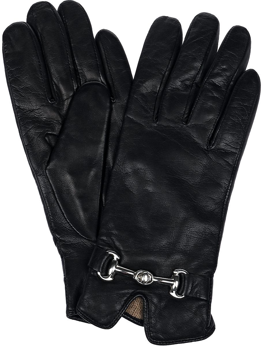 Перчатки женские Dali Exclusive, цвет: черный. 11_CHEA. Размер 6,511_CHEA/BLЖенские перчатки Dali Exclusive не только защитят ваши руки, но и станут великолепным украшением. Перчатки выполнены из натуральной кожи, а их подкладка - из высококачественной шерсти. Модель оформлена декоративным элементом.