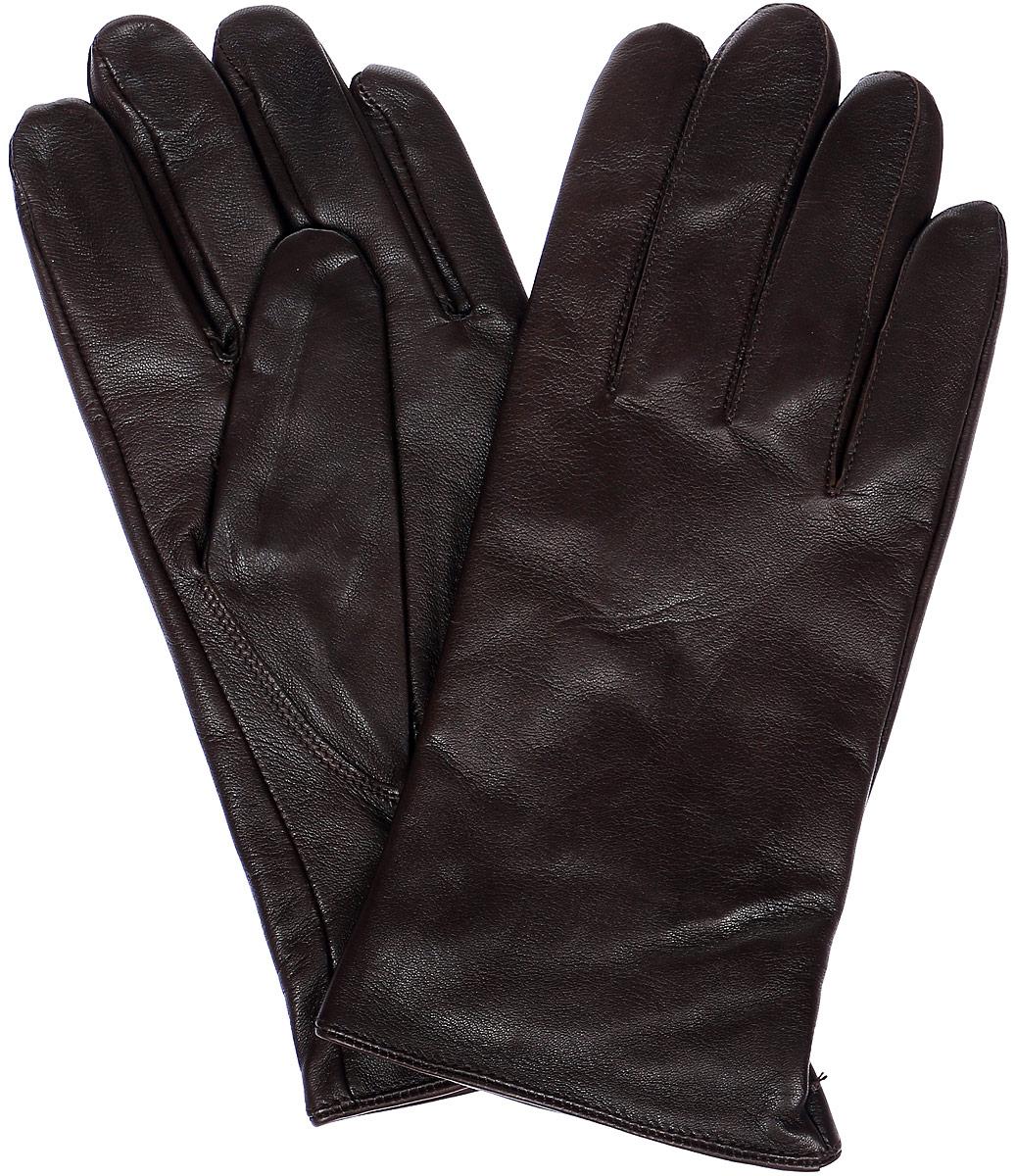 Перчатки мужские Eleganzza, цвет: темно-коричневый. HP68980. Размер 8HP68980Мужские перчатки Eleganzza выполнены из натуральной гладкой кожи и дополнены сборкой, которая надежно зафиксирует модель на запястье. Внутренняя поверхность выполнена из шерсти и кашемира, которые обеспечат тепло и комфорт.