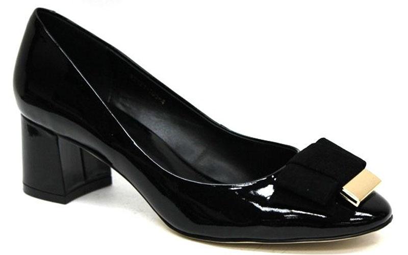 Туфли женские Graciana, цвет: черный. W2121-T05-4. Размер 40W2121-T05-4Женские туфли от Graciana на невысоком устойчивом каблуке выполнены из натуральной лаковой кожи. Модель на подъеме декорирована бантиком. Подкладка, изготовленная из натуральной кожи, обладает хорошей влаговпитываемостью и естественной воздухопроницаемостью. Стелька из натуральной кожи гарантирует комфорт и удобство стопам. Подошва из тунита износоустойчива и обеспечивает хорошее сцепление с поверхностью.