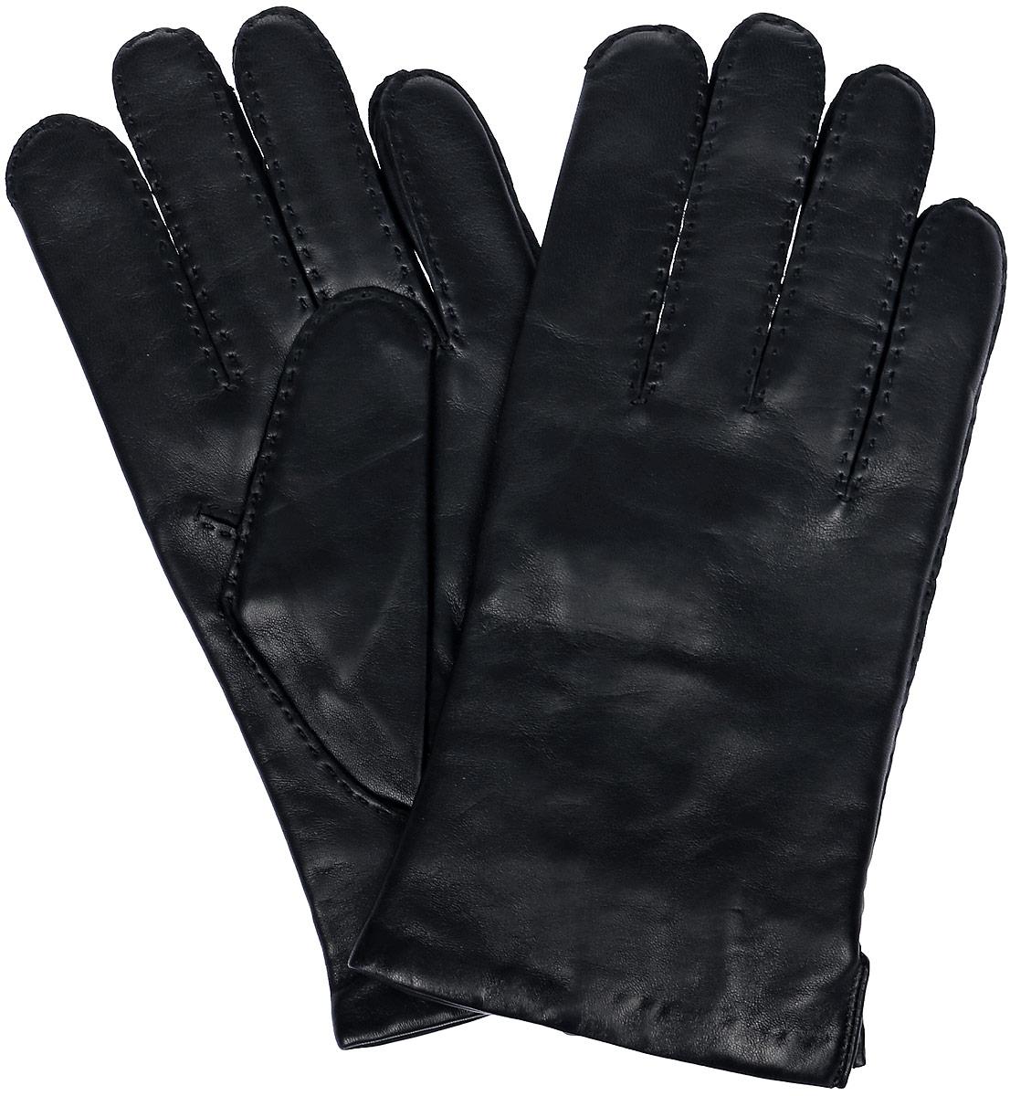 Перчатки мужские Michel Katana, цвет: черный. K100-PORINGE. Размер 8K100-PORINGE/BLМужские перчатки Michel Katana не только защитят ваши руки, но и станут великолепным украшением. Перчатки выполнены из натуральной кожи, а подкладка - из высококачественной шерсти. Модель оформлена декоративными прострочками.