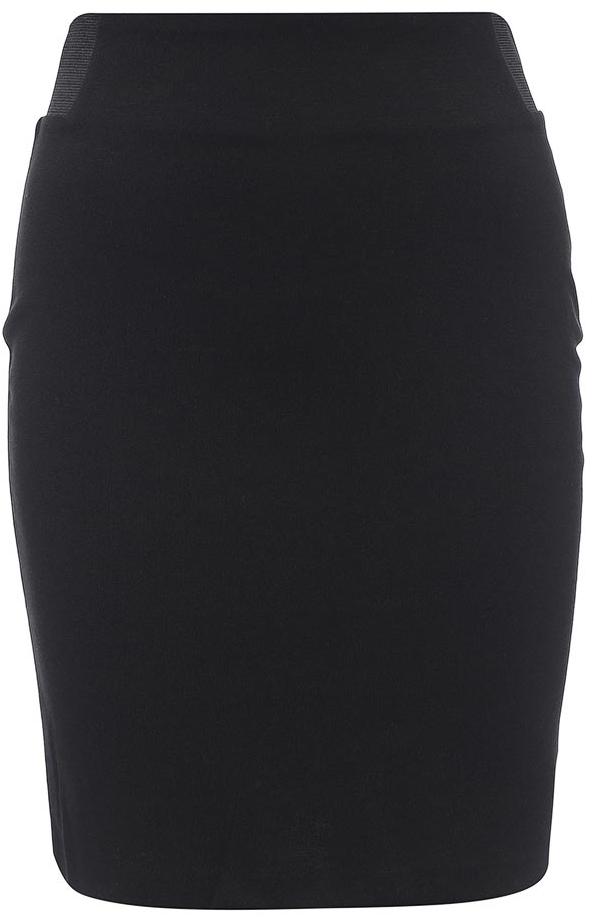 Юбка Sela Collection, цвет: черный. SKk-118/867-7131. Размер S (44)SKk-118/867-7131Эффектная юбка Sela выполнена из качественного материала, она обеспечит вам комфорт и удобство при носке. Модель-миди со стандартной талией и без застежек дополнена по бокам в поясе эластичными резинками. Оформлена юбка в лаконичном дизайне.