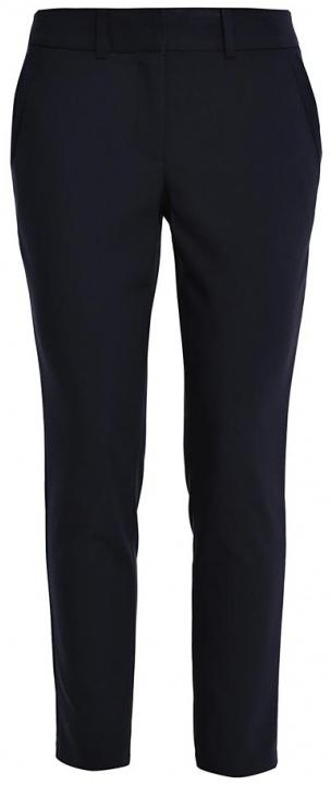 Брюки женские Sela Casual, цвет: темно-синий. P-115/797-7140. Размер XL (50)P-115/797-7140Стильные женские брюки Sela Casual, выполненные из качественного комбинированного материала, очень мягкие, тактильно приятные, не сковывают движения и хорошо пропускают воздух.Модель прямого кроя со стандартной посадкой застегивается на пуговицу и крючки в поясе, также имеет ширинку на застежке-молнии. Спереди брюки дополнены двум втачными карманами, сзади - двумя прорезными-декоративными карманами. На поясе предусмотрены шлевки для ремня.