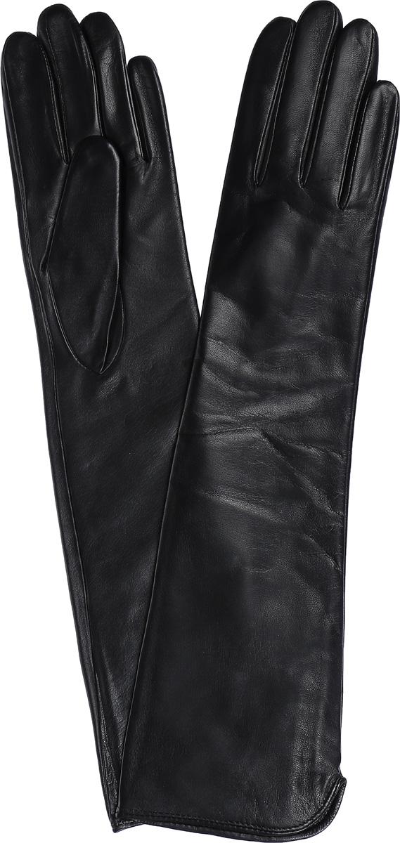Перчатки женские Labbra, цвет: черный. LB-2002. Размер 6LB-2002Женские перчатки Labbra выполнены из натуральной кожи ягненка. Они мягкие, максимально сохраняют тепло, идеально сидят на руке. Удлиненные перчатки изготовлены на подкладке из натуральной шерсти с добавлением акрила. Модель выполнена в лаконичном дизайне.